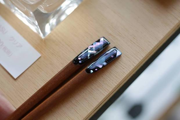 螺鈿入り箸