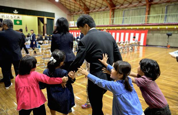 学芸会の当日。いつも通り元気いっぱいの子どもたち。(撮影:佐々木育弥)