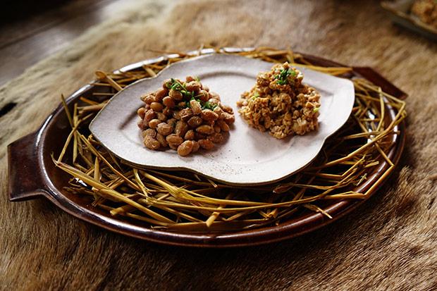 手づくりの藁納豆