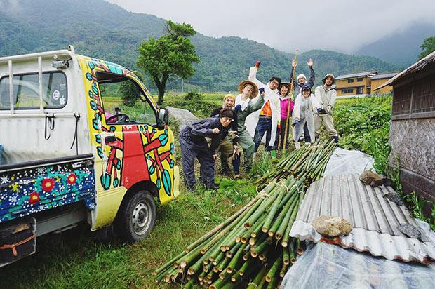 伐り出した竹は約300本!