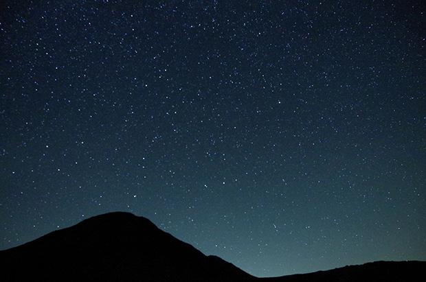 夕日のあとの満天の星空