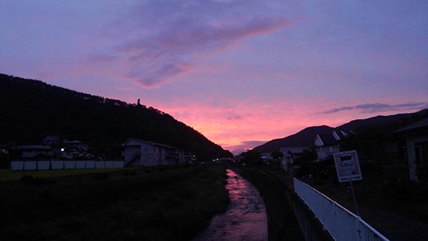 花巻秋のの夕景