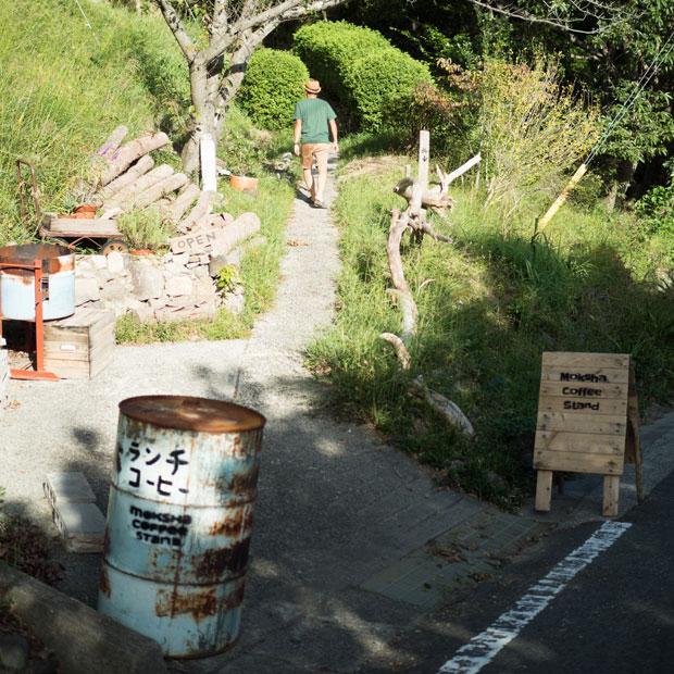 最近、坂手港の近くにオープンした〈moksha coffee stand〉さん。