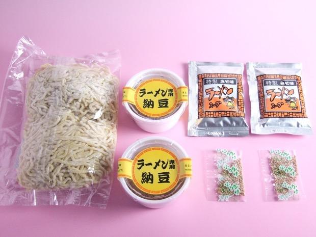 納豆ラーメンのセット内容