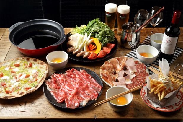 関村牧場 赤姫和牛サーロインの赤ワインすき焼き風しゃぶしゃぶ
