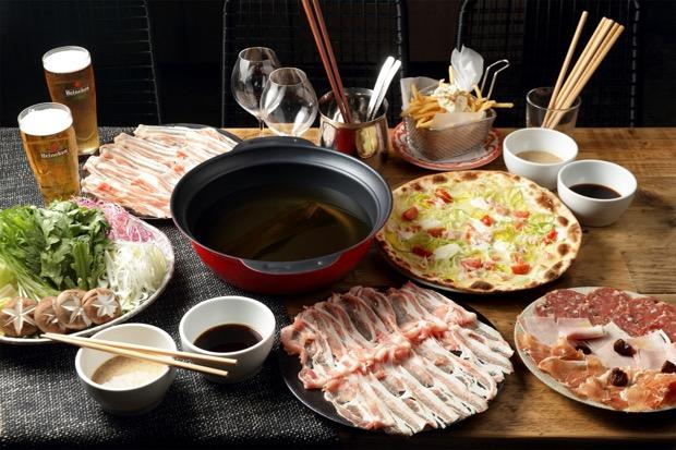 群馬県産優味豚と彩り野菜のしゃぶしゃぶ