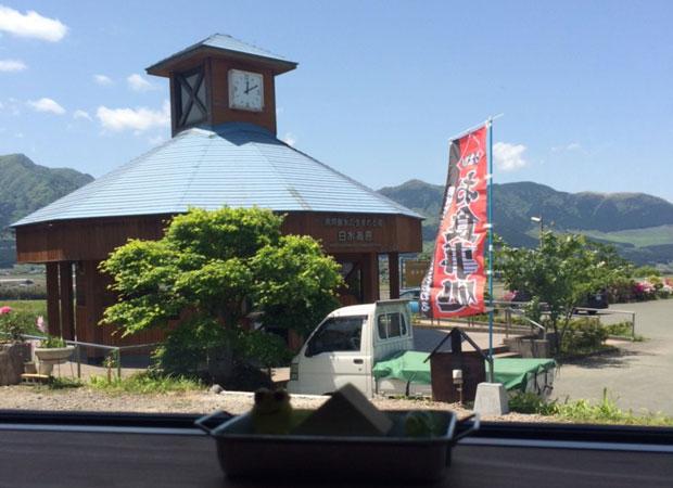 きしゃぽっぽ店内からの眺め。