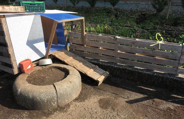 イベントで使った木製のパレットが意外な活躍。