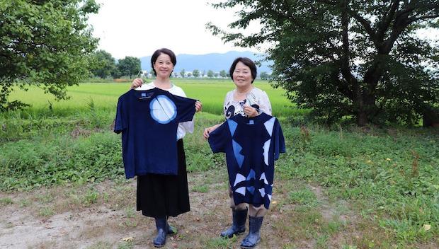 「デザインから染めまでできる、Tシャツの藍染め」