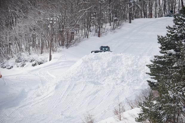 10トントラック約100台分の雪を集めたそう