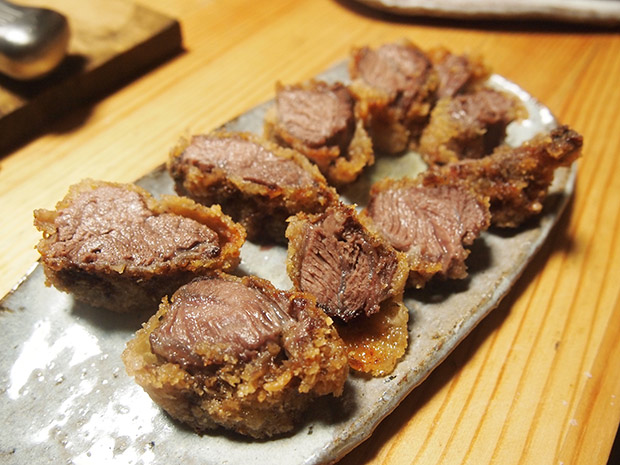 イノシシのほほ肉のカツ。やわらかくて美味!