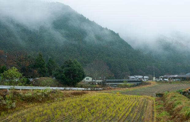 上吉原さん夫婦が暮らす、里山の風景が美しい小来川。
