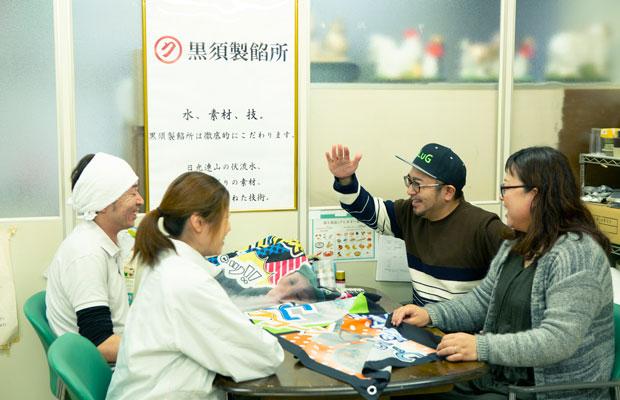 黒須さん夫婦との話が盛り上がって「SLだから煙出してみる?」と〈SLポップコーン〉のアイデアが。