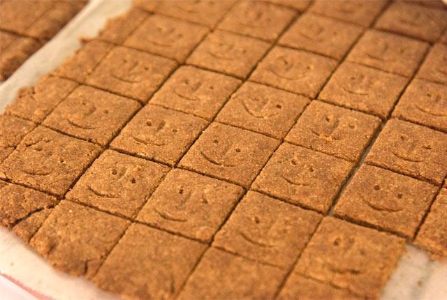 米ぬかを練り込んだクッキー