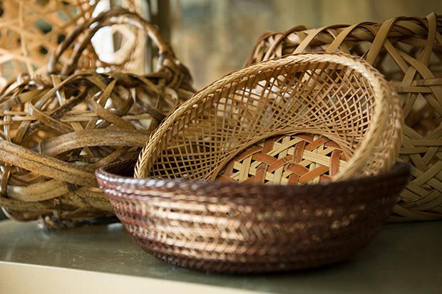 竹細工の製品。