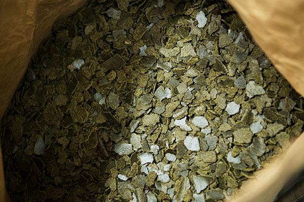 菜種の搾り粕。