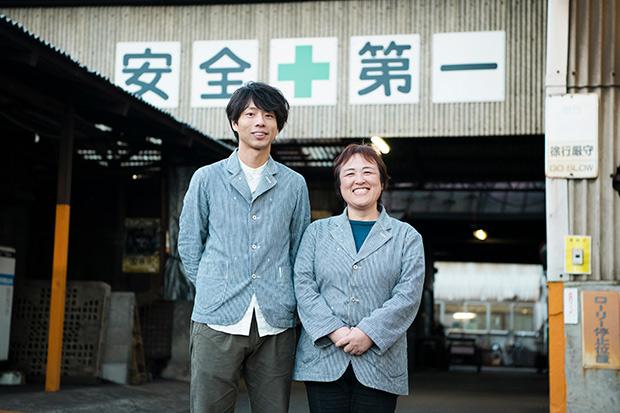 右から及源の社長・及川久仁子さん、商品開発・デザイン担当の橋本太郎さん。