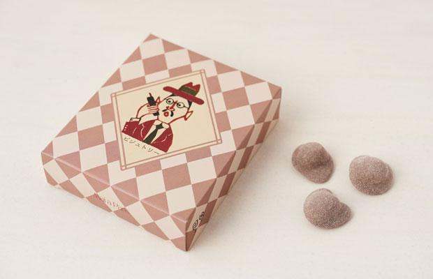 秋から春までの限定販売のチョコレート〈ピジュトリー〉の「おじさんのイラスト」も柚木氏の作品。