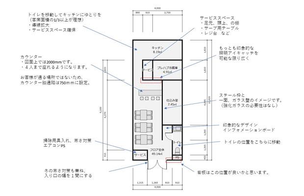 最初に考えた1階レイアウト図。