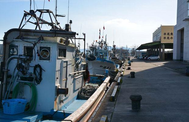市民の暮らしのすぐ近くにある氷見漁港、魚屋さんもたくさん。