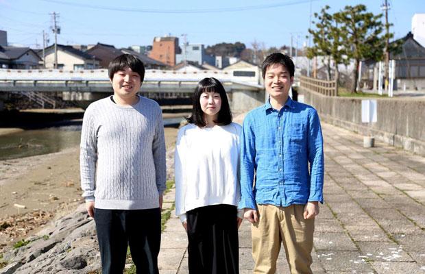 右から山本悠貴さん、奥様の梢さん、悠貴さんの弟の尚弥さん。