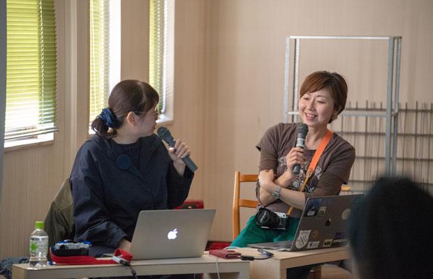 昨年12月に開催された第1回目の講座。写真家のMOTOKOさんと地域から発信することについてお話しました。