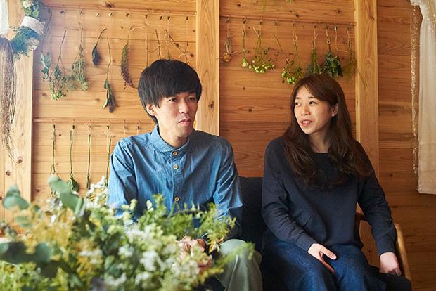 結婚式を挙げたばかりの桜木愼也・有希子さん夫婦。