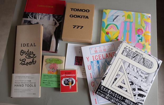 〈888ブックス〉で刊行された書籍の数々。五木田智央、フィリップ・ワイズベッカーなどの作品集を刊行している。