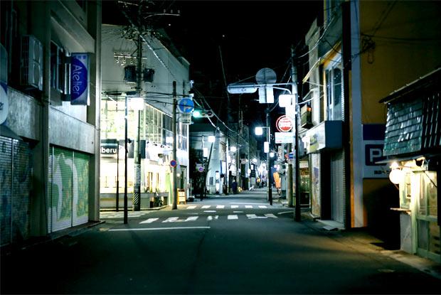 長野市の夜の街並み