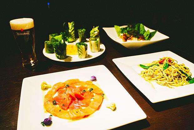 「地魚のカルパッチョ」「生春巻」「リターノ丼」「気まぐれパスタ」