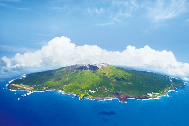 上空からの三宅島