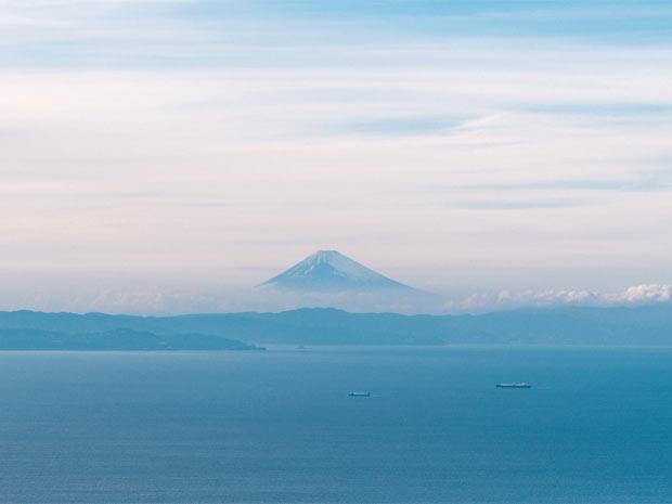 島から富士山も望める