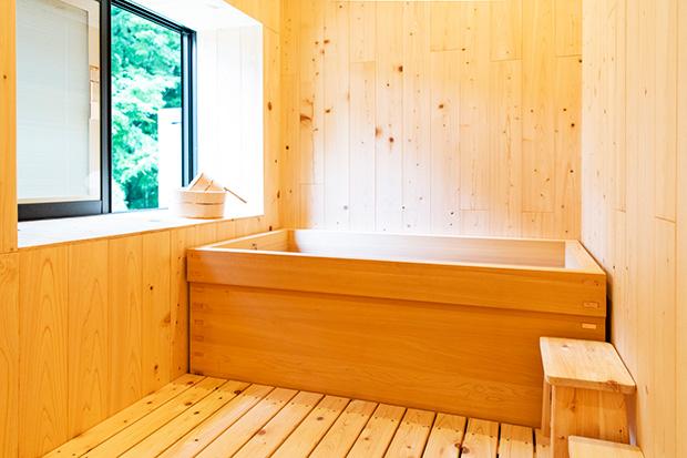 総ヒノキ風呂