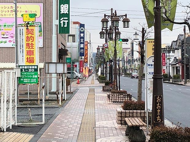 地元の一ノ関駅前の商店街。