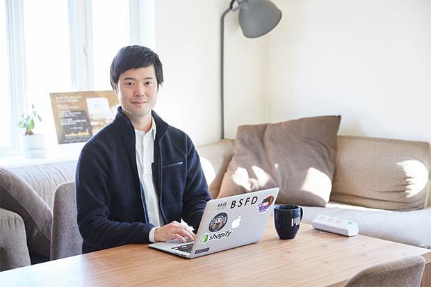 ベースフード株式会社代表取締役の橋本舜さん。