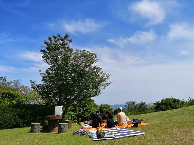 義姉家族と公園でピクニック