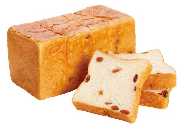 この食パンのためなら、午後を棒に振ってもかまわないという意味が込められた〈仕方ない午後(レーズン)〉980円(税別)。華やかなサンマスカットレーズンと食パンのハーモニーがたまりません。