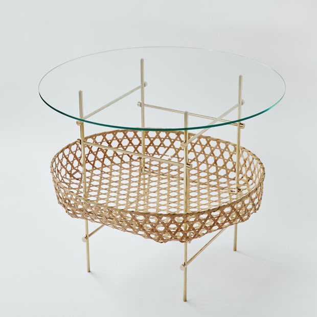 Bamboo lattice table 原嶋亮輔(H550/W650/D650)