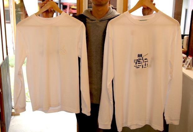 Tシャツの表面。左が三橋さん作。右が田中さん作。