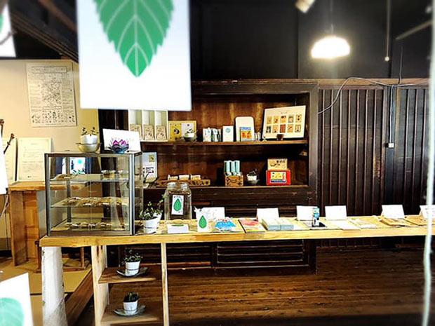 イベント「備中薄荷物語2019」の際の販売ブース。当日は土岐隆信氏の講演や、ハッカを使ったリラクゼーション空間の展示も行われた。