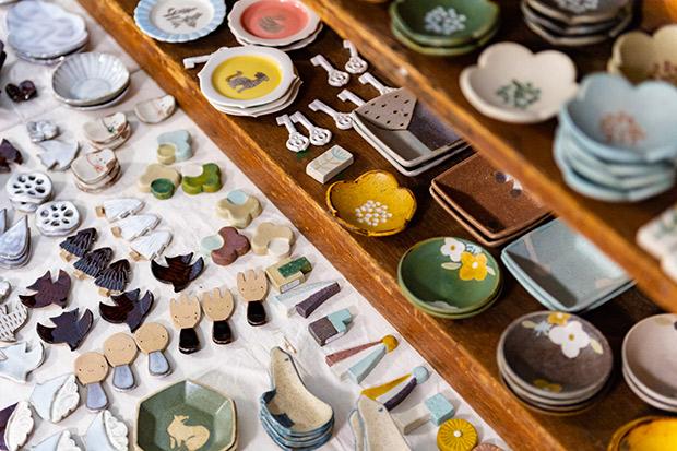 手のひらサイズのアート。大人気の豆皿&箸置き市。