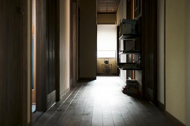 宿泊棟の廊下。