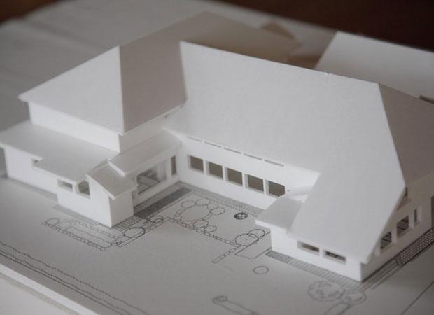 旧八女郡役所の模型。