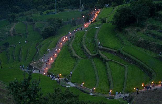 小豆島の虫送り、農業と暮らしが里山の風景をつくる