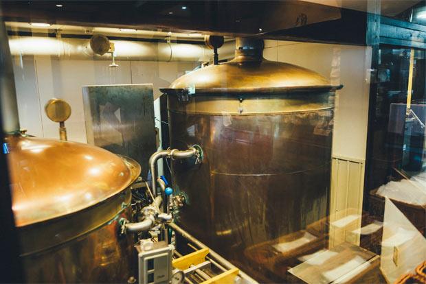 クラフトビールの醸造所