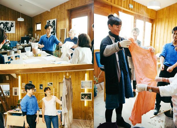 大学で染色を学んだ杉本さんは、漢方で使われる生薬を使った草木染めによる作品制作やワークショップなども行っている。