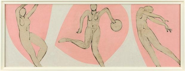 猪熊弦一郎 無題 1948-49年頃 油彩、板[3枚組の一部]個人蔵(C)公益財団法人ミモカ美術振興財団