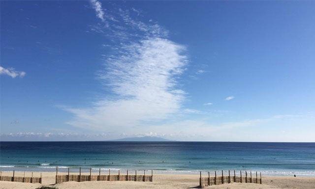 下田から見える伊豆七島