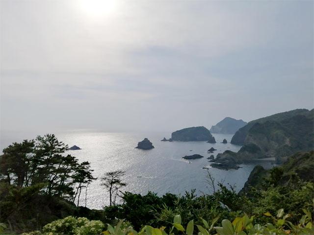 南伊豆町から見える海