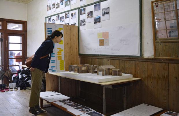 展覧会では大きな模型を展示しました。